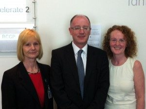 Pictured Dr Helen Brown (CTC), Professor Nigel Sparrow (RCGP and SCOC) and Katie Baldwin (NHSC) at the RGCP Conference 2012