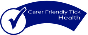 Carer Friendly Tick - health logo