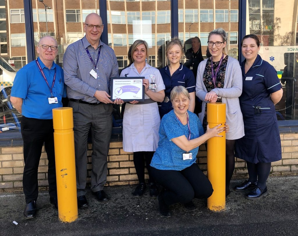 Addenbrookes Outpatients receive Carer Friendly Tick