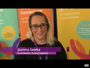 Jo Sawka, Caring together care worker, on That's TV West Anglia