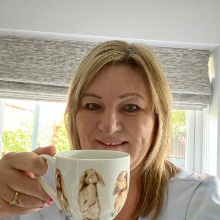 Miriam Martin and her mug #GiveCarersABreak