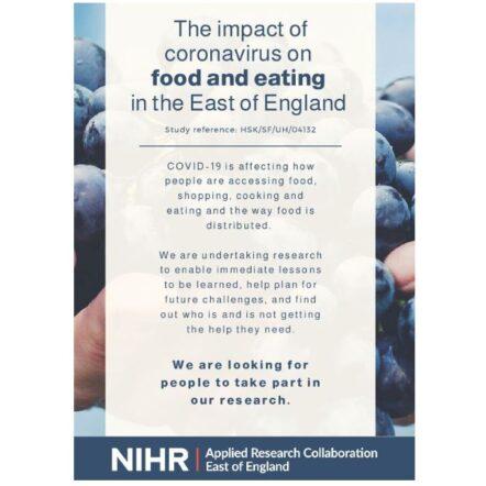 NIHR ARC East of England - Covid19 Food Study Flyer