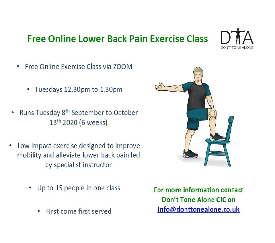 Don't Tone Alone back pain