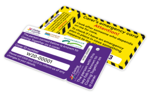 Carer's emergency card