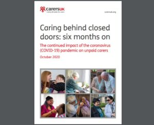 Caring behind closed doors cover
