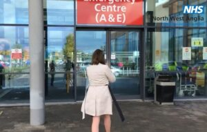 Peterborough City Hospital entrance