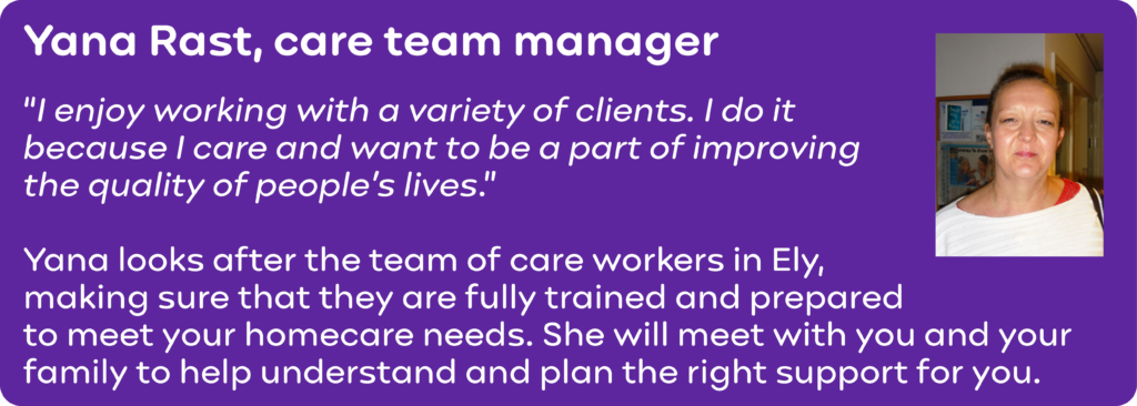 Meet Yana, our care team manager