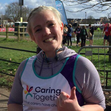 Fundraising runner Sam