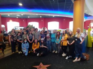 Group of young carers at bowling activity